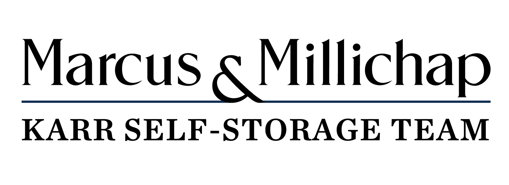Marcus and Millichap with Karr Self Storage Logo